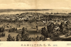 Hamilton, County Wentworth. Drawing by C. S. Rice. Published by Rice & Duncan, 1859.  Courtesy of Wikimedia Commons.