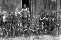 A group of workers outside a local factory, 1893. Courtesy of McMaster University Labour Studies Archives.