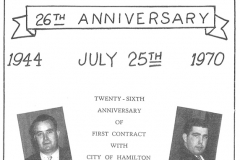 Local 5 members celebrate the 26th anniversary of their first contract with the city, July 1970. Courtesy of The Outsider, July 1970, William Ready Division of Archives and Research Collections, McMaster University.