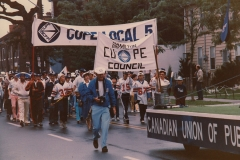 Labour Day parade, 1984. Courtesy of CUPE Local 5167.