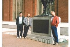 Local 5 members at the CUPE National Convention in Vancouver, October 1989. Left to right: James Keenarn, Ed Thomas, and Peter Wickett. Courtesy of Peter Wickett.