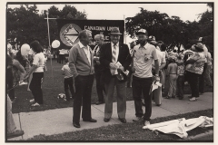 Labour Day parade. Mayor William Powell is in the middle and Local 5's Bob Rose to his right, 1980. Courtesy of Ed Thomas.