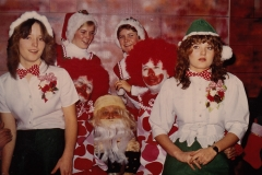 The first Local 5 annual Christmas party for members and kids; Jack Sadlick was Santa, 1982. Courtesy of CUPE Local 5167.
