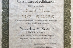 HDLC Local 167 affiliation, 1981. Courtesy of CUPE Local 5167.