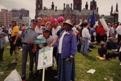 Rally at the CUPE National Health and Safety Conference in Ottawa, ca. 1992. Courtesy of Ed Thomas.