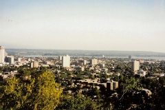 A view of the city of Hamilton from the escarpment, 1999. Courtesy of Ken Lund.