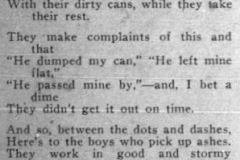 A poem written by a garbage worker in Hoot Civic News, September 1934. Courtesy of Hoot Civic News.