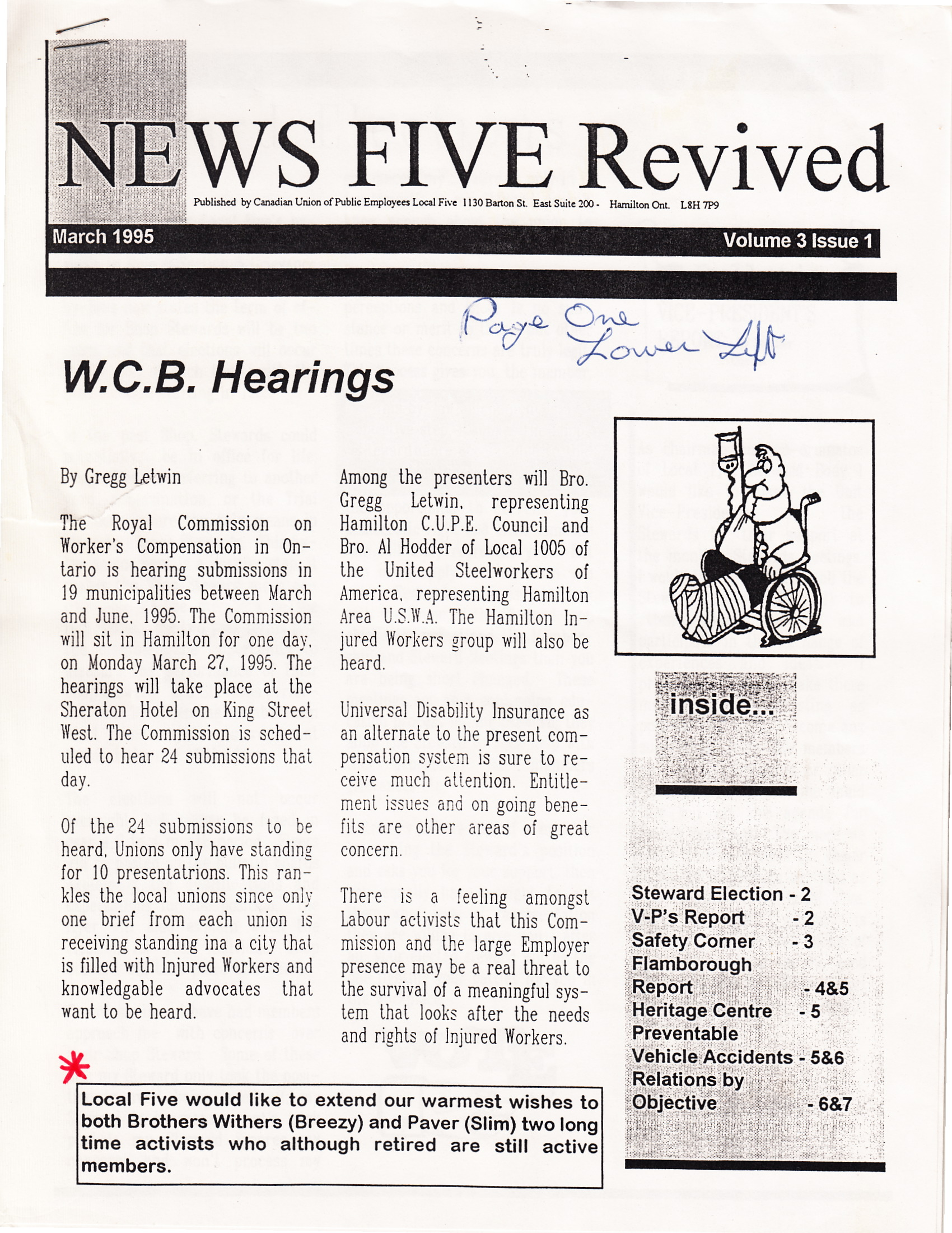 News Five Revived Cover, March 1995