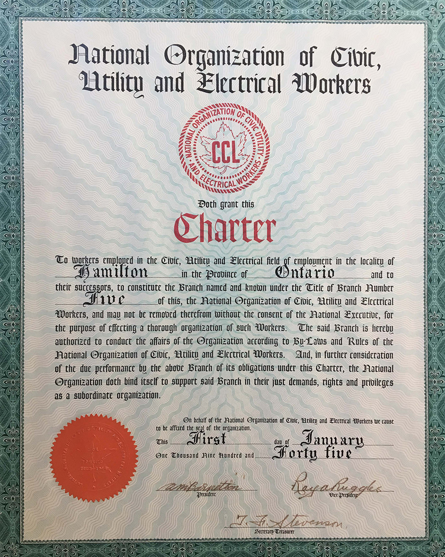 1944 - Local 5 Charter