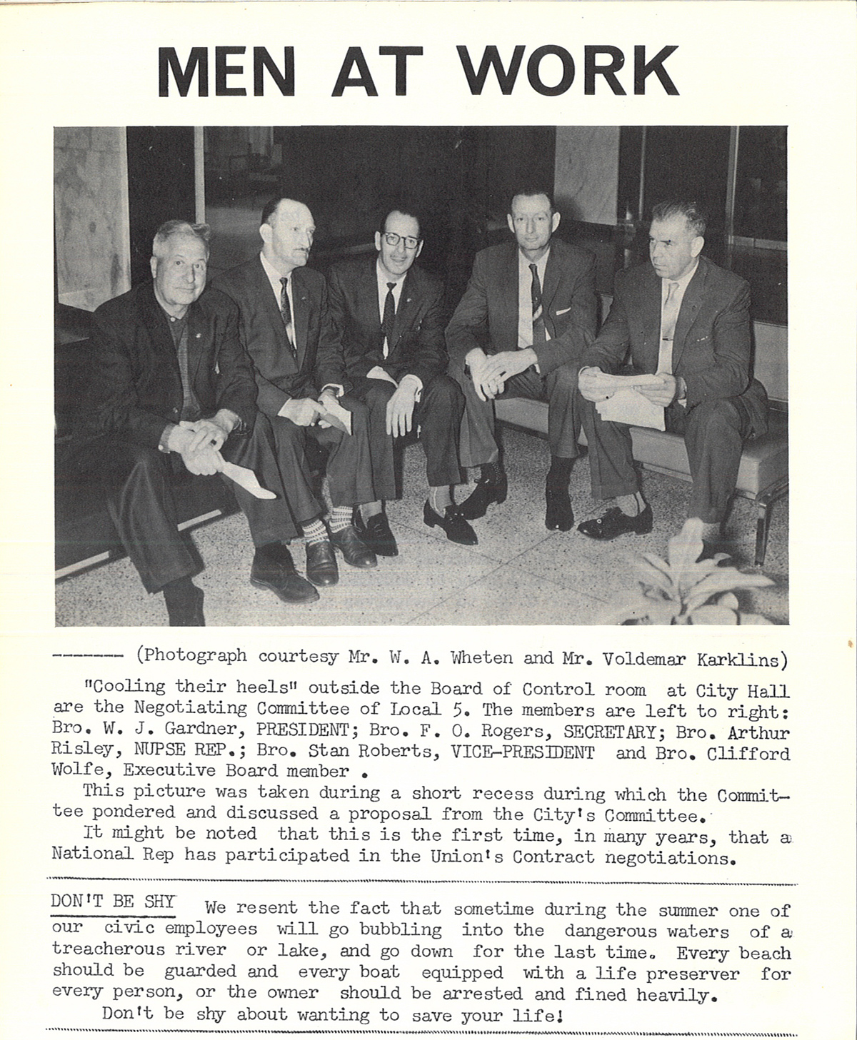 1963 - Local 5's negotiating-committee