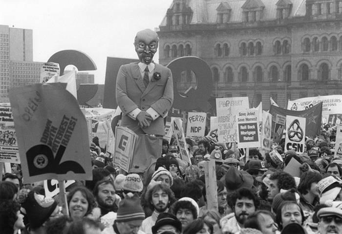 1981 - National Day of Protest against wage controls.