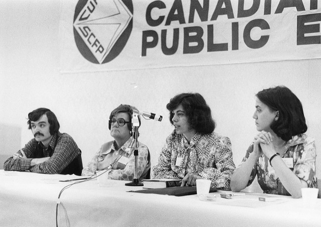 CUPE Saskatchewan division convention; Grace Hartman is second from left.